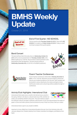 BMHS Weekly Update