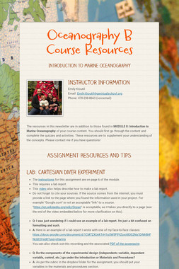 Oceanography B Course Resources
