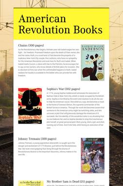 American Revolution Books