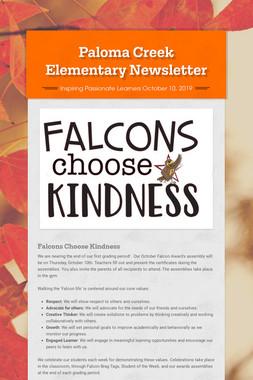 Paloma Creek Elementary Newsletter