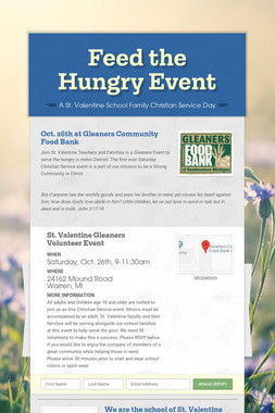 Feed the Hungry Event