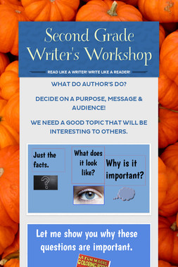 Second Grade Writer's Workshop