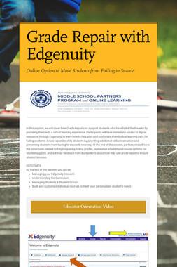 Grade Repair with Edgenuity
