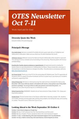OTES Newsletter Oct 7-11