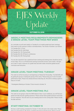 EJES Weekly Update