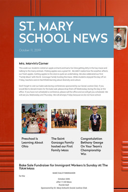 ST. MARY SCHOOL NEWS