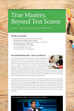 True Mastery, Beyond Test Scores