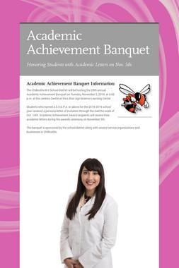 Academic Achievement Banquet