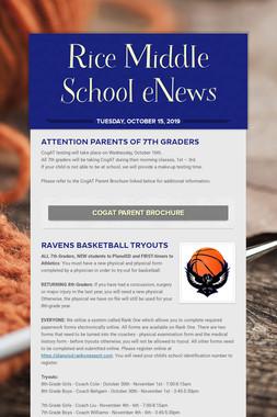 Rice Middle School eNews
