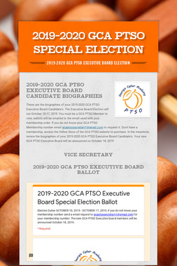 2019-2020 GCA PTSO Special Election