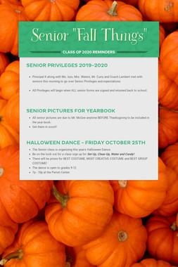 """Senior """"Fall Things"""""""