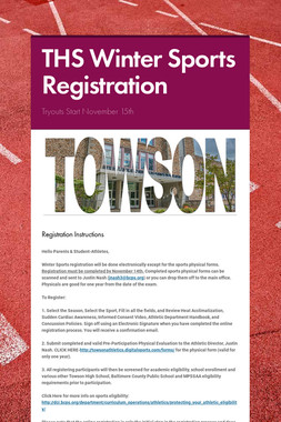 THS Winter Sports Registration