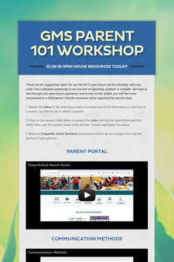 GMS Parent 101 Workshop