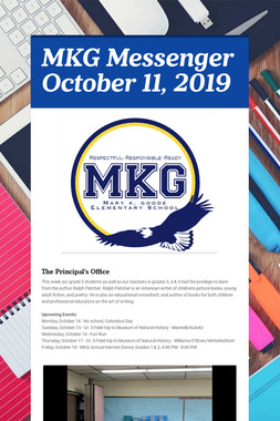 MKG Messenger October 11, 2019