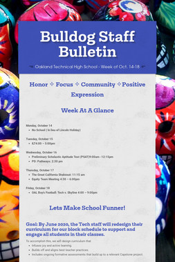 Bulldog Staff Bulletin