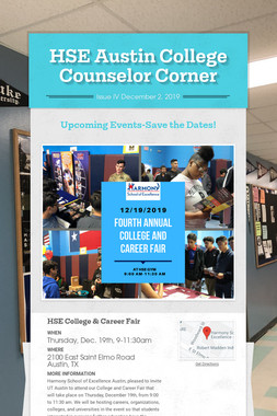 HSE Austin College Counselor Corner