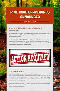 Pine Cove Chaperones Announced