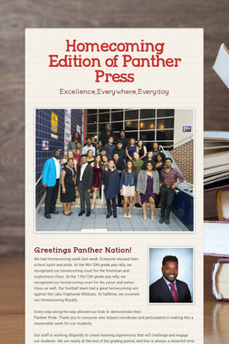 Homecoming Edition of Panther Press