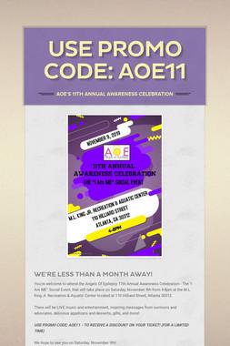 USE PROMO CODE: AOE11