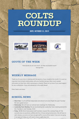 Colts Roundup