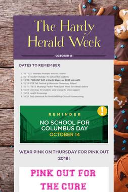 The Hardy Herald Week