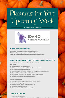 Planning for Your Upcoming Week