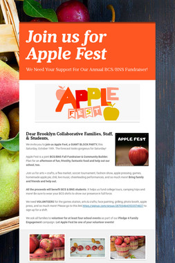 Join us for Apple Fest