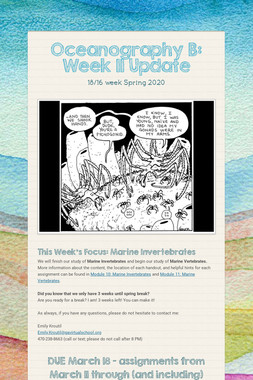 Oceanography B: Week 11 Update