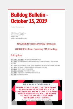 Bulldog Bulletin - October 15, 2019