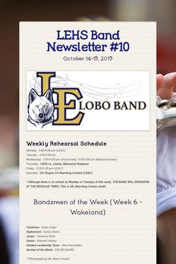 LEHS Band Newsletter #10