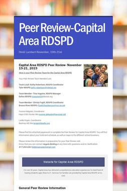 Peer Review-Capital Area RDSPD