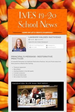 LVES 19-20 School News