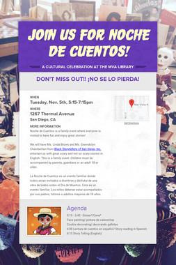 Join us for Noche de Cuentos!