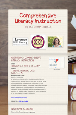 Comprehensive Literacy Instruction