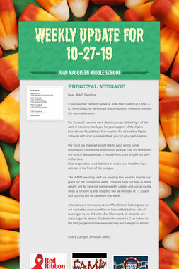 Weekly Update for 10-27-19