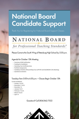 National Board Candidate Support