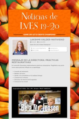 Noticias de LVES 19-20