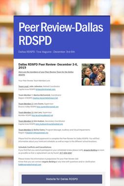 Peer Review-Dallas RDSPD