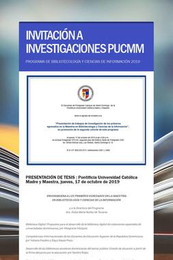 INVITACIÓN A INVESTIGACIONES PUCMM