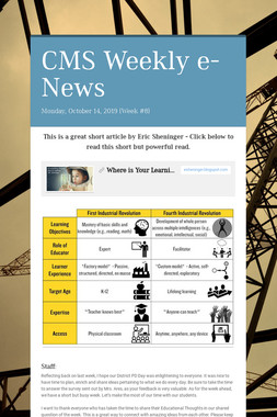 CMS Weekly e-News