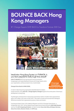 BOUNCE BACK Hong Kong Managers