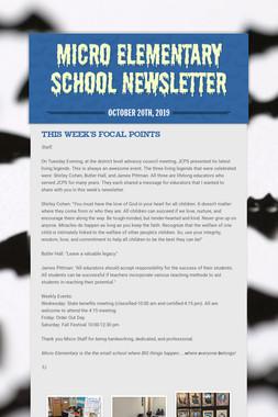 Micro Elementary School Newsletter
