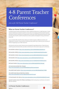 4-8 Parent Teacher Conferences