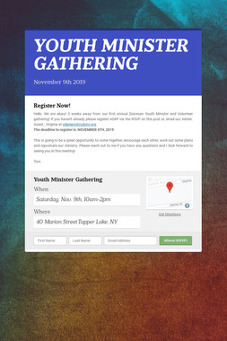 YOUTH MINISTER GATHERING