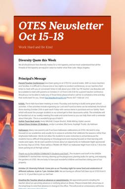 OTES Newsletter Oct 15-18