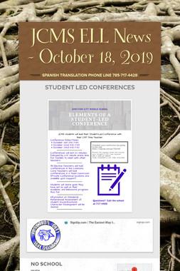 JCMS ELL News - October 18, 2019