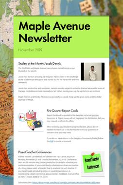 Maple Avenue Newsletter