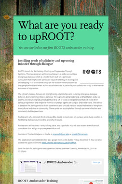 What are you ready to upROOT?