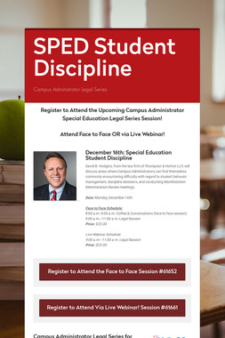 SPED Series for Administrators