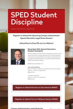 SPED Student Discipline